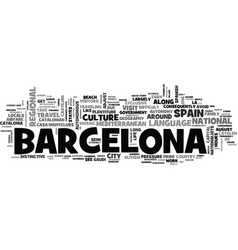 A country within a country travel to barcelona vector
