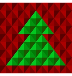 Geometrical Christmas tree snowflake background vector image