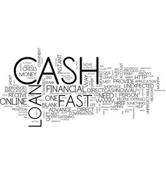 First cash loan cash to meet your financial vector