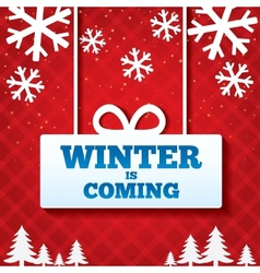 Winter is coming sale background vector