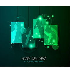 2015 Merry Christmas and happy new year background vector image vector image
