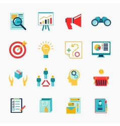 Marketers flat icon vector