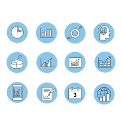 Business infographic icons - graphics vector