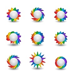 Rainbow buttons vector