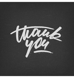 Custom handwritten thank you card grunge lettering vector