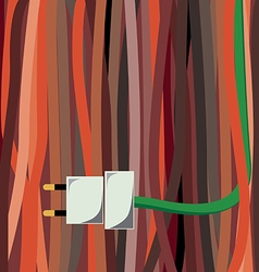 Cable plug vector