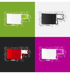 Drawing business formulas flag vector