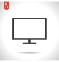 Tv or monitor icon vector