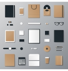 Eco mock up set vector