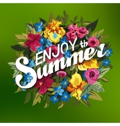 Summer Typographical Background With different vector image