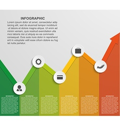 Abstract infographic chart vector