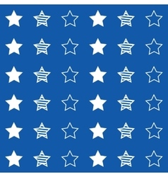 Abstract seamless geometric pattern with stars vector