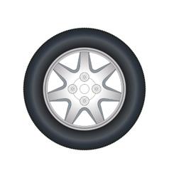 Automobile wheel vector image