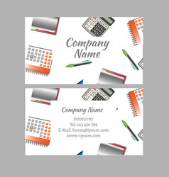 Business card of office tools vector