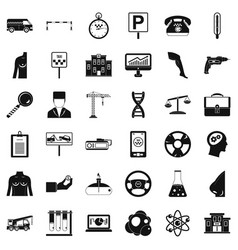 Business parking icons set simple style vector