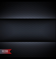 carbon metal background with small holes vector image vector image