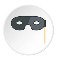 Carnival mask icon circle vector