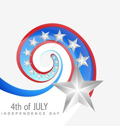 creative 4th of july vector image