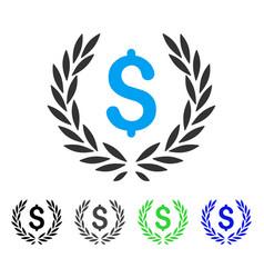 Financial laurel wreath flat icon vector