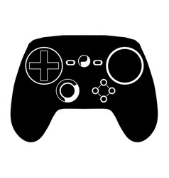 Gaming pad silhouette vector