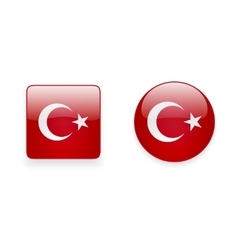 Icons with turkish flag vector