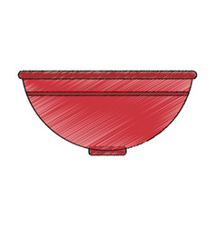Isolated bowl design vector