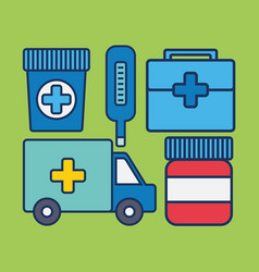 Medical related icons vector