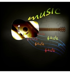 music guitar vector image vector image