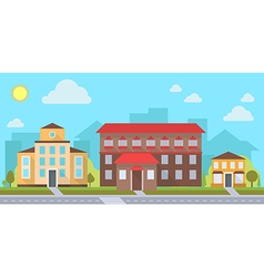 Office or administrative buildings vector