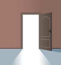 Opened door vector