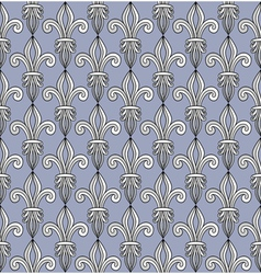 Pattern with royal lilies vector