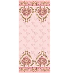 pink vintage card vector image