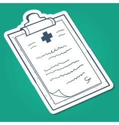 Prescription case history card vector