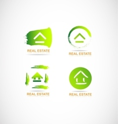 Real estate grunge logo vector