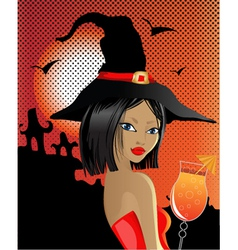 sexy witch vector image