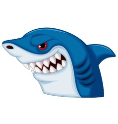 Shark head mascot cartoon vector image vector image