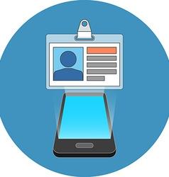 Smartphone user ID profile concept Isometric vector image