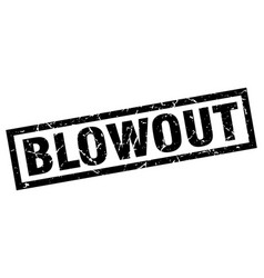 Square grunge black blowout stamp vector