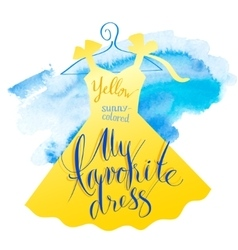 Watercolor dress vector image vector image