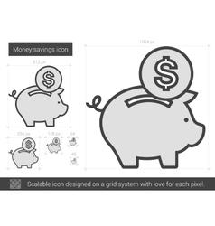 Money savings line icon vector