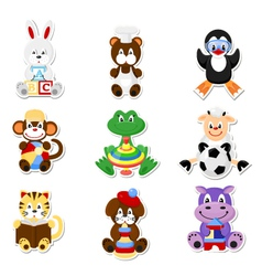 Cute animal toys vector image