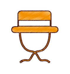 Tourist hat isolated icon vector