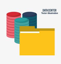 data center technology folder file document vector image