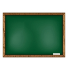 Blackboard on wooden background vector