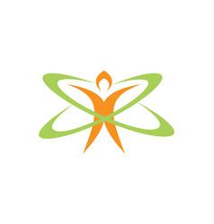 People technology medic health logo vector