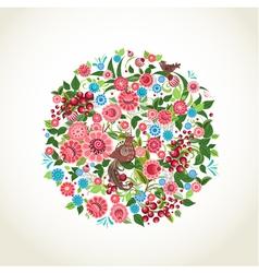Circular flower vector