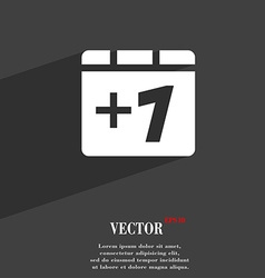 Plus one add one icon symbol flat modern web vector