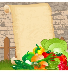 dietary menu on paper grunge vector image