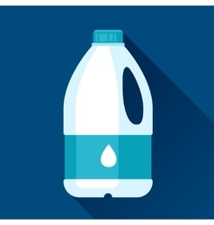 With gallon of milk in flat design vector