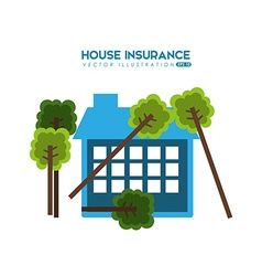House insurance design vector